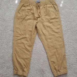 Jcrew tan linen pants 31 nwt